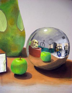 Clingan-Darack still life w sphere