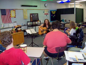 Liz Roth plays for Andria Tichy's class web
