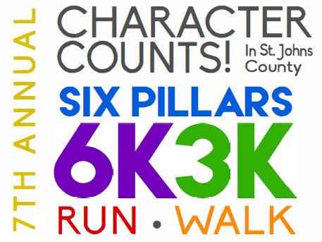 7th Annual Character Counts Six Pillars 6K 3K Run / Walk