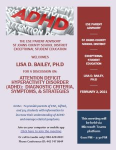 Attention Deficit Hyperactivity Disorder (ADHD): Diagnostic Criteria, Symptoms & Strategies on Feb. 2