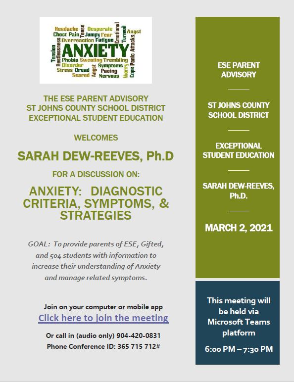 ESE PAC 3-2-21 Anxiety Flyer