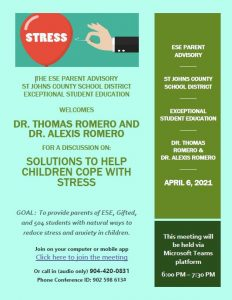 Solutions to Help Children Cope with Stress on Apr. 6