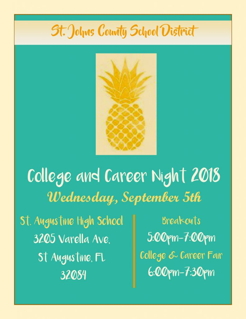 Colle and Career Night 2018 Flyer