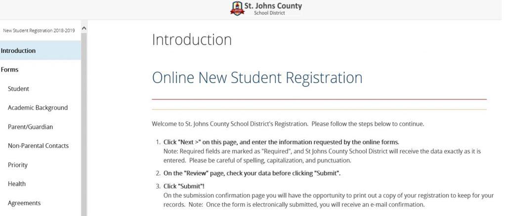 Online Registration Page Sample