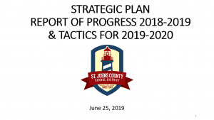 Strategic Plan Report of Progress 2018-2019 & Tactics for 2019-2020