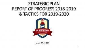Strategic Plan Report of Progress 2018-2019 & Tactics for 2019-2020