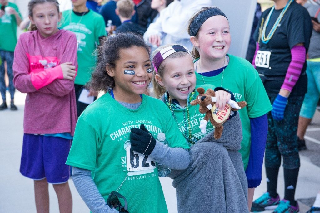 Children having fun at the CHARACTER COUNTS! Six Pillars 6K/3K Run/Walk