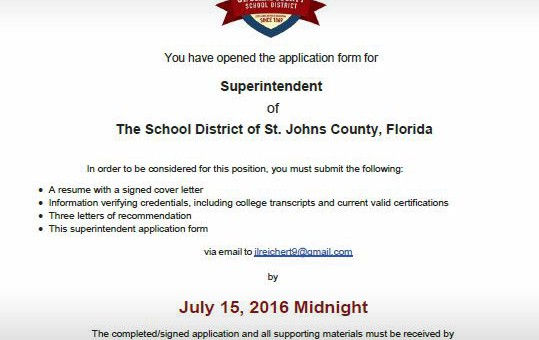 Superintendent Application Form