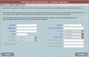 complete the school access form
