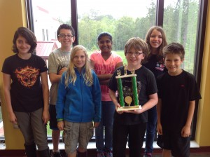 """The """"Odyssey Avengers"""" team is made up of seven 5th graders and two coaches."""