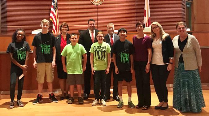 Sebastian Middle School Legislative Delegation