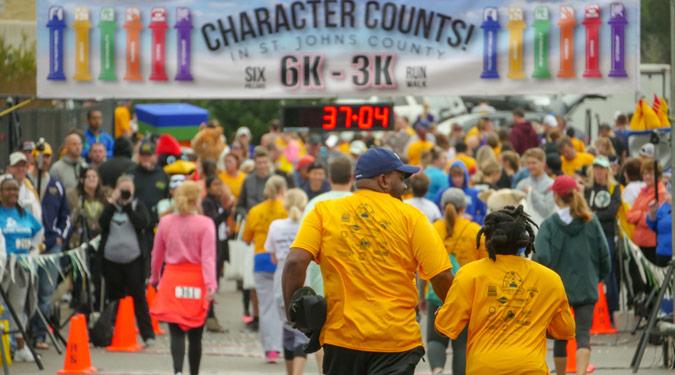 CHARACTER COUNTS! 6 Pillars 6K/3K Run/Walk Race Results