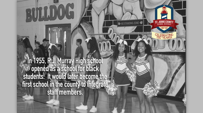 In 1955, R. J. Murray High School opened as a school for black students. It would later become the first school in the county to integrate staff members.