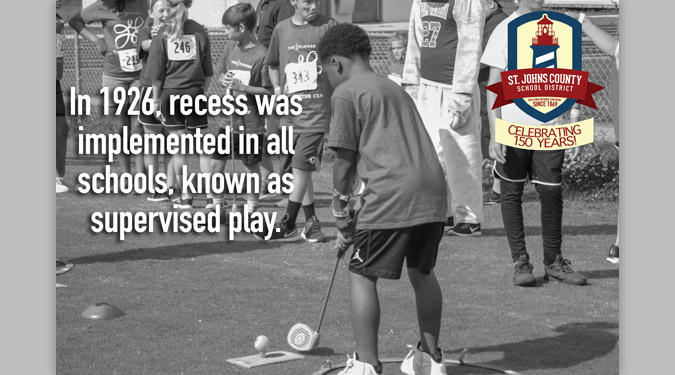 In 1926, recess was implemented in all schools, known as supervised play.
