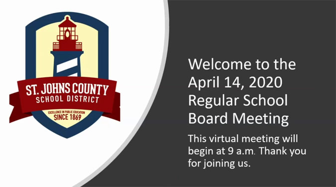 St. Johns County School Board Meeting - April 14, 2020