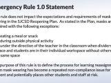 Emergency Rule 1.0 Statement