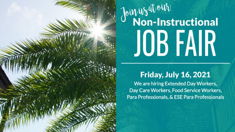 Join us at our Non-Instructional Job Fair