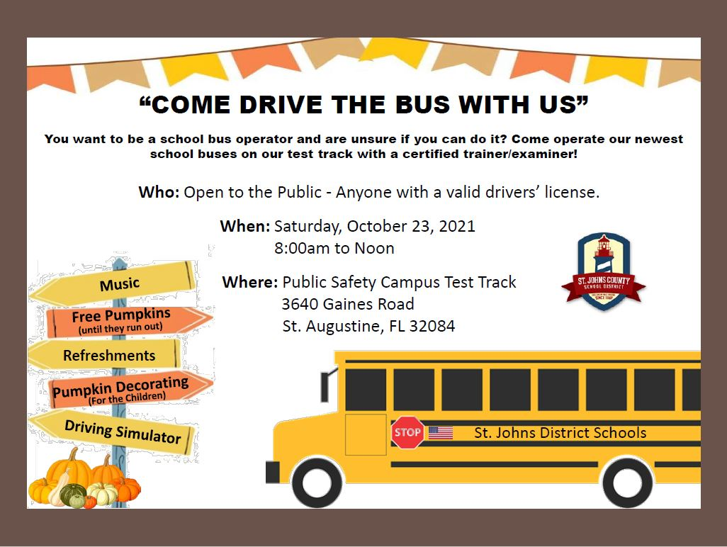 Come Drive the Bus with Us Flyer