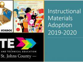 2019-2020 Instructional Materials Adoption