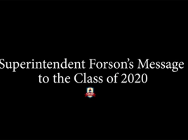Superintendent Forson's Message to the Class of 2020