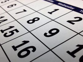 Proposed Calendars 2019-2022