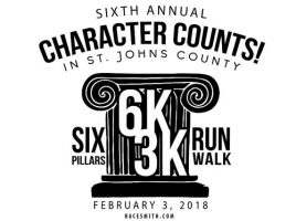Register Now for the CHARACTER COUNTS! Six Pillars 6K/3K Race
