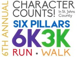 2018 CHARACTER COUNTS! 6 Pillars 6K/3K Run/Walk