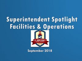 Facilities and Operations Department Update - September 2018
